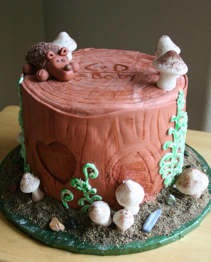 Woodland Theme Baby Shower Cake Smalltowncookie Com