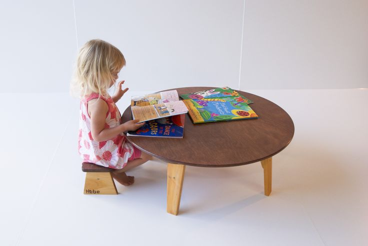 Children's wooden low table - available at www.hebe.kiwi.nz