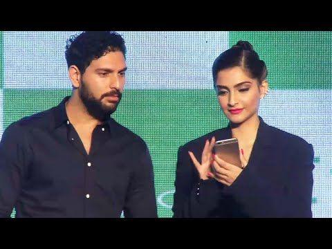 Sonam Kapoor & Yuvraj Singh launches the new Oppo F1S smartphone.