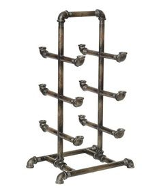 This is a good idea that could be expanded into any size freestanding shelving unit, or pipe rack