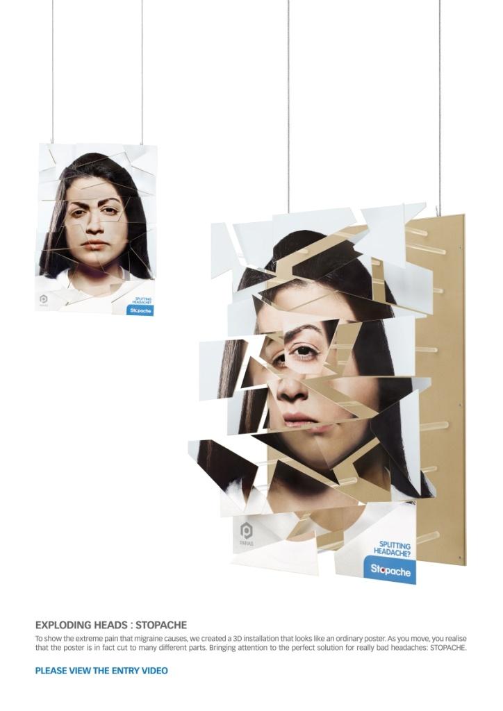 Campaign: Explosive Pain: Exploding Antoinette / Advertiser: Paras Pharma / Agency: Y Dubai / Country: UAE / Creative Director: Shahir Zag & Kalpesh Patankar / Art Director: Kalpesh Patankar / Copywritter: Shahir Zag / Award: Instore Posters & Displays Sapphire