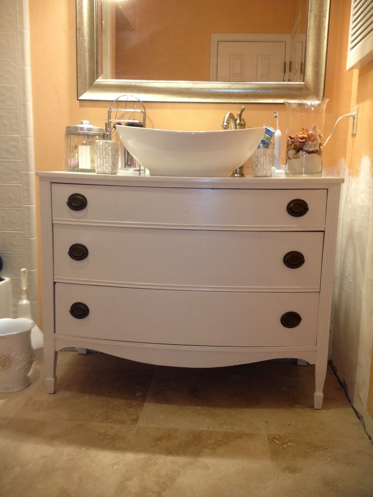 my diy bathroom vanity redo i found the faucet and sink in amazon and