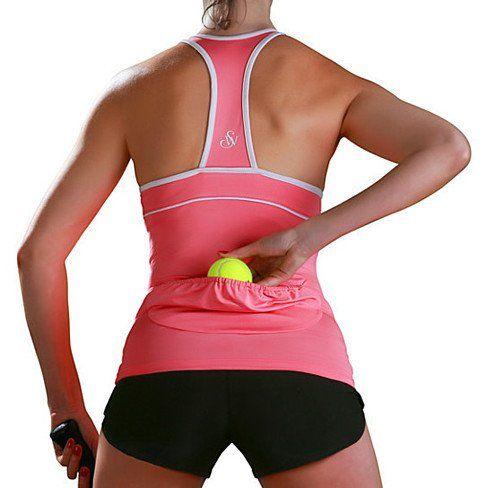 Tennis ball pocket top