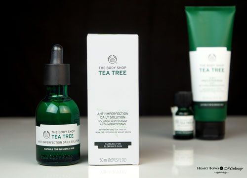 The Body Shop Tea Tree Anti Imperfection Daily Solution Review Price Buy Online India