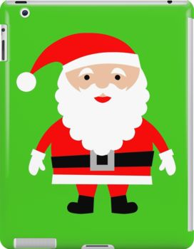 Cute Santa. Do you love Christmas like i do? If so you will love this cute Santa I Pad case. This Cute Santa I Pad case/skin is sure to get you in the Christmas spirit. Or why not give this Cute Santa i pad case to somebody as a different gift?