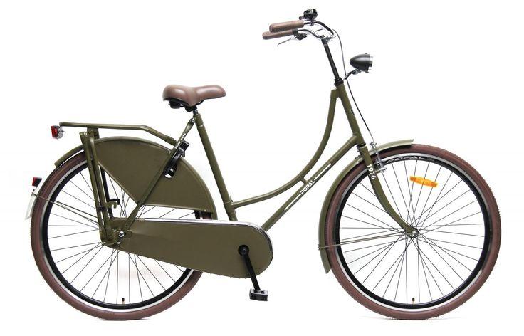 bicicleta omafiets 28 verde oscuro. bicicleta holandesa