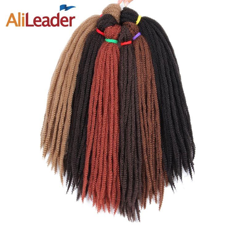 Alileader  18'' Kanekalon Crochet Braid Hair Extension Marley Braid Red Crochet Twist Hair Synthetic Hair Extensions 3Pcs/Lot #Affiliate