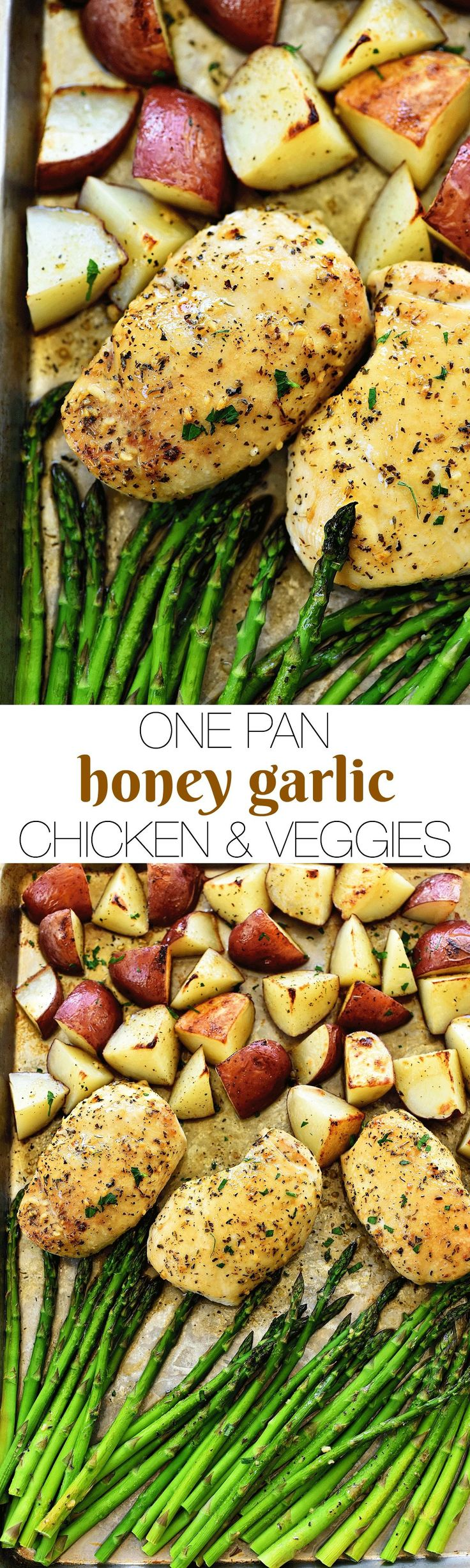 Cheers to the freakin' weekend! I love Fridays and I love this recipe I am sharing today- ONE PAN HONEY GARLIC CHICKEN & VEGGIES! This is my new favorite dinner at the moment. Seriously, it is amazing. There are a few reasons why- A) the entire meal is cooked in one pan (hallelujah )... Read More »