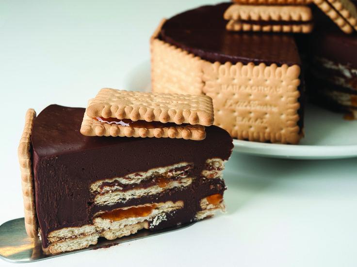 Τούρτα με σοκολάτα-μαρμελάδα βερίκοκο