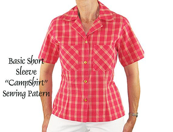 Dress it up - Dress it down - a Basic Shirt is a great addition to any wardrobe. The easy Camp Shirt Style is quick and simple to make -- this
