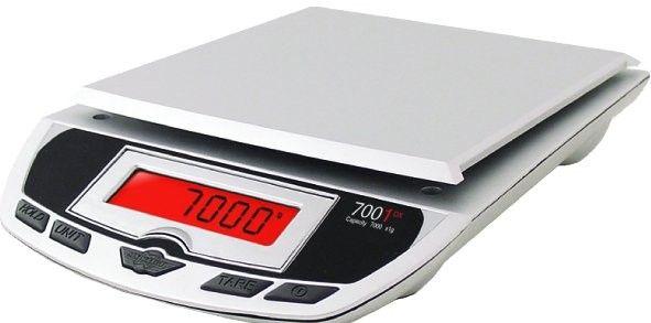 Bascula de precisión digital de mesa My Weigh 7001DX (7Kg x 1g)  La serie de básculas de precisión digitales 7001DX se caracterizan por su facilidad de limpieza y sencillez en el uso, los materiales empleados de acero reforzado hacen de este producto extremadamente duradero.