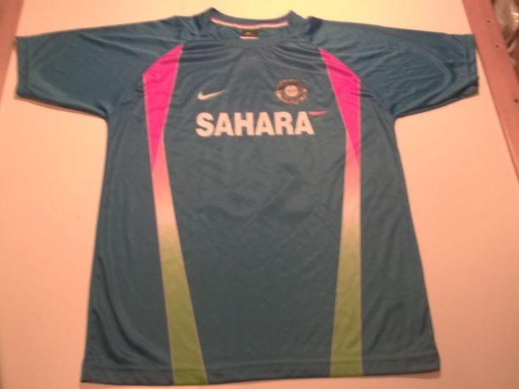 India Cricket #10 Rohit Sharma Nike Dri-Fit Brand Jersey-Medium Rare Sahara
