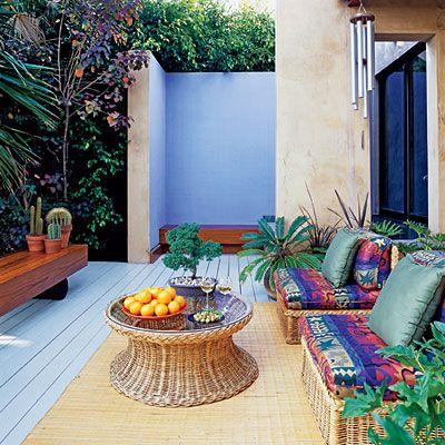 Decks Santa Monica lounges: Outdoor Sitting Areas, Decks Ideas, Decks Santa, Outdoor Living, Monica Lounges, Outdoor Lounges, Small Spaces, Great Ideas, Outdoor Sit Area