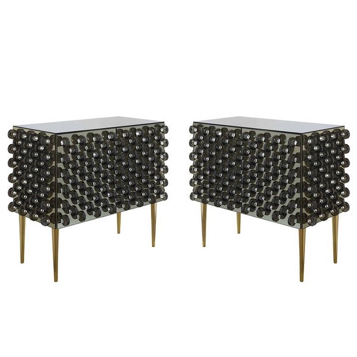 Pair of Macine Small Chests of Drawers by Roberto Giulio Rida, 2014 | From a unique collection of antique and modern dressers at https://www.1stdibs.com/furniture/storage-case-pieces/dressers/
