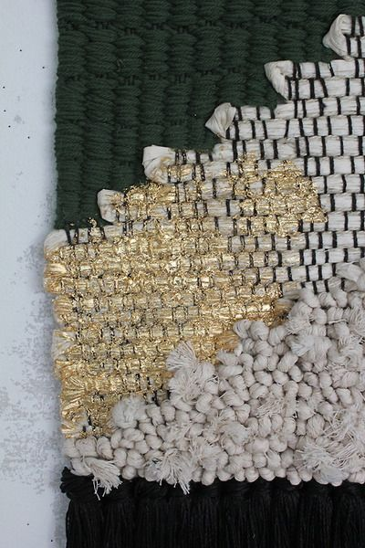 Texture/Color Scheme - it's the colors I like. The use of gold in small amounts is appealing, but I would use gold thread or bullion, not paint.