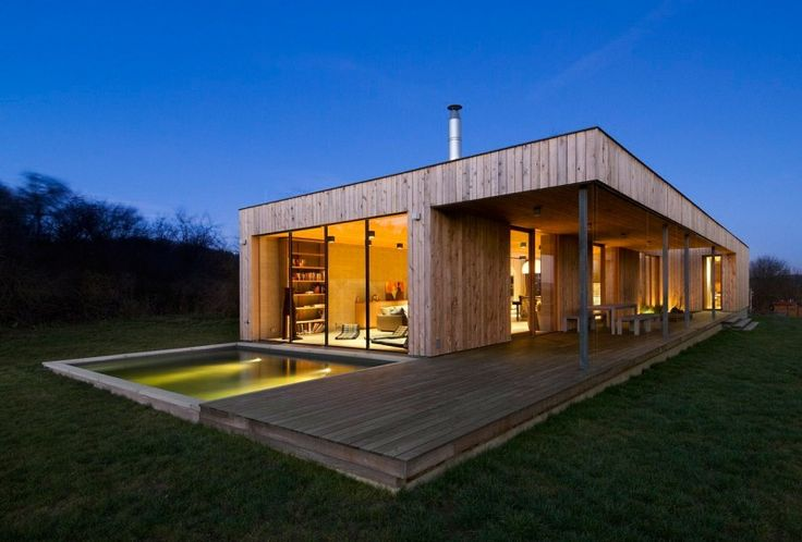 Maison contemporaine en #bois #architecture