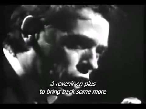 ▶ Jacques Brel - Dans le Port d'Amsterdam (Sous-titres anglais) - YouTube
