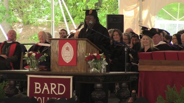 """Bard College held its 155th commencement on Saturday, May 23, 2015. The commencement address was given by Sherrilyn Ifill, president and director-counsel of the NAACP Legal Defense and Educational Fund, Inc. Ifill charged the graduates, """"To exercise true citizenship, you will be obligated to help our nation grapple with its most vexing and starkest contradictions."""""""