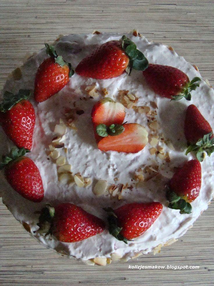 Pyszny domowy tort truskawkowy, przepis już na blogu!