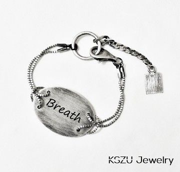 KSZU- Breath Silver Oval Plate Bracelet [light]