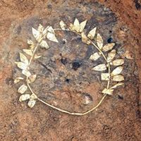 Ancient Gold Wreath Found In Greek Subway - An abundance of gold wreaths appear to lay hidden in a subway network in Greece.    Indeed, excavation work during construction of a new subway in the northern city of Thessaloniki, Greece's second largest city, has revealed another gold wreath – the ninth since work started in 2006.    Found on the site of an ancient cemetery at what will be the Dimokratias Station stop, the wreath of olive leaves lay buried for some 2,300 years.