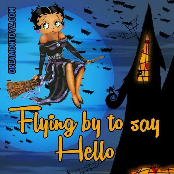 Halloween Bilder, Betty Boop, Vollmond, Flapper, Hexen, Sprüche