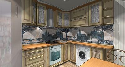 Виртуальный дизайн для небольшой кухни