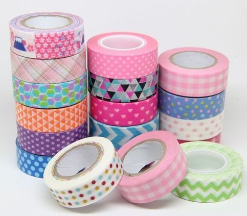 **This listing is for 1 piece only**  Beautiful PRINTED tape perfect for all crafty endeavors! It has various little prints on it.  This tape is 10m in length and 4cm wide.  Available in Camera Birds Flowers  Please mention the Number of the type of tape you want in the order:)