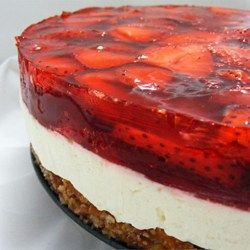 Judy's Strawberry Pretzel Salad - Allrecipes.com - 4 out of 5 stars. I would recommend doubling the pretzel crust and the jello (the cream center is fine). It's a delicious interplay of sweet, creamy, and salty.