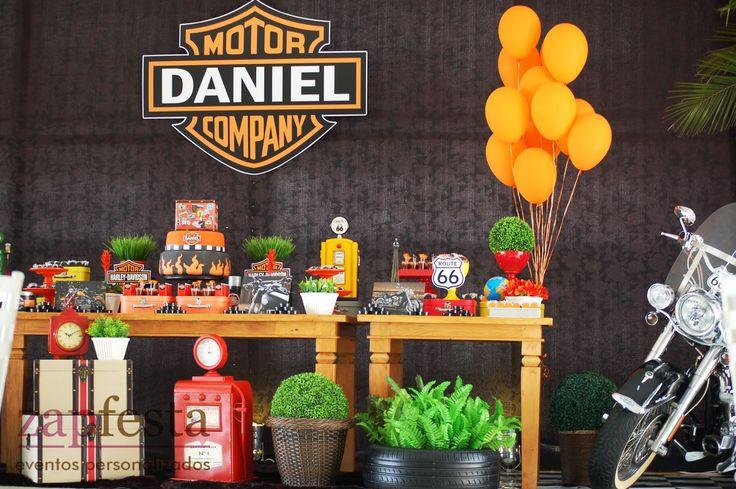 decoração festa harley davidson - Pesquisa Google