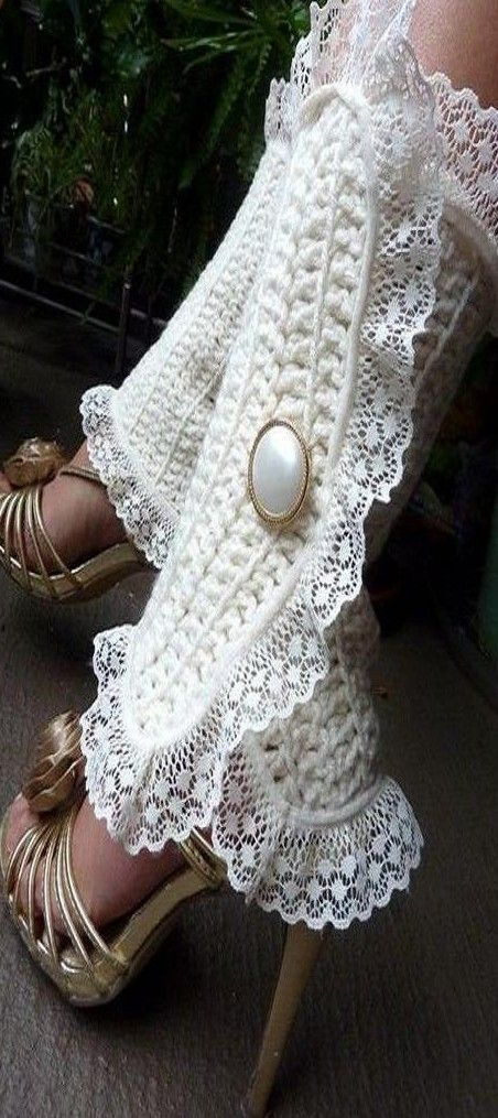 chic crocheted leg warmers ♥✤ | KeepSmiling | BeStayBeautiful