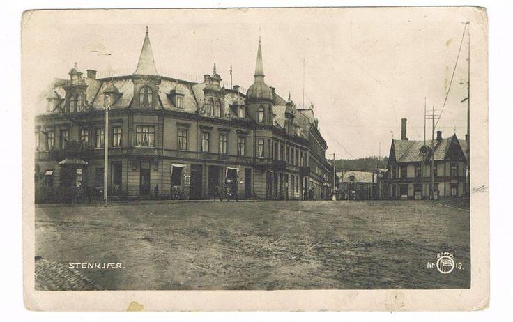 Steinkjer i Nord-Trøndelag 1920-tallet. Oppi