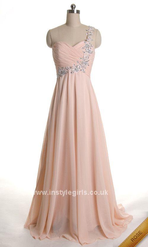 One Shoulder Beading Floor Length Sweetheart Elegant Prom Dress 2013