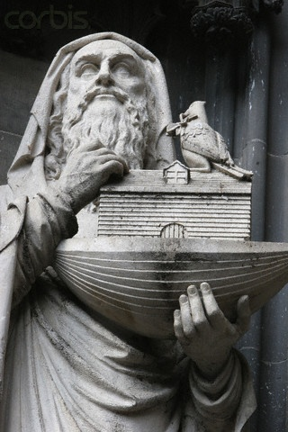 Statue of Noah at Cologne Cathedral