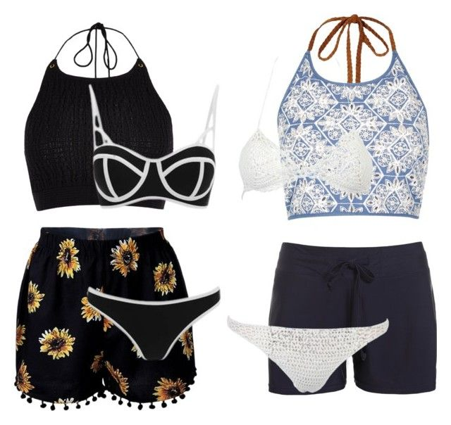 """Beach wear"" by creece-massoudi ❤ liked on Polyvore featuring River Island, South Beach and WithChic"