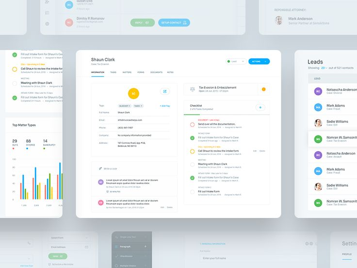 Hi guys,  Sharing some more screens from the CRM dashboard we did for a client…