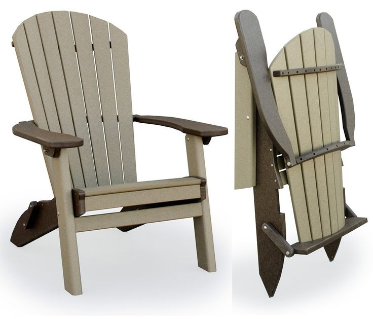 easy to transport folding adirondack chair made from durable polywood - Polywood Adirondack Chairs