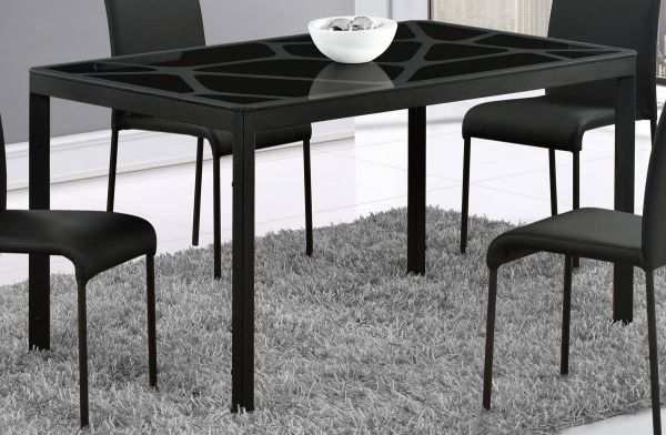 D751 Series Black Glass Dining Table