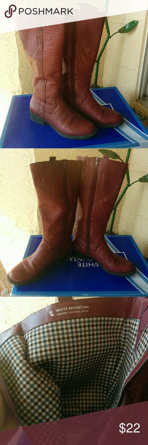 Burgundy White Mountain Riding Boots Burgundy riding boots. Have some wear to them but still a cool pair of riding boots. White mountain Shoes