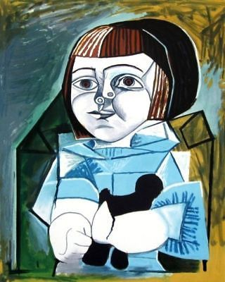 Original Lithograph approved and hand signed by the granddaughter of Picasso. This Original Limited Edition Lithograph was created on hand drawn Lithographic plates after Pablo Picasso's painting unde