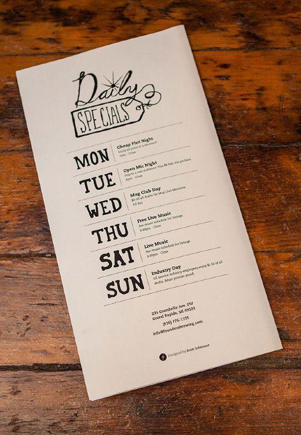 21 attention grabbing restaurant menu designs restaurant menu