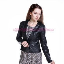 woman clothes 2015 adult short pu leather jacket Best Buy follow this link http://shopingayo.space