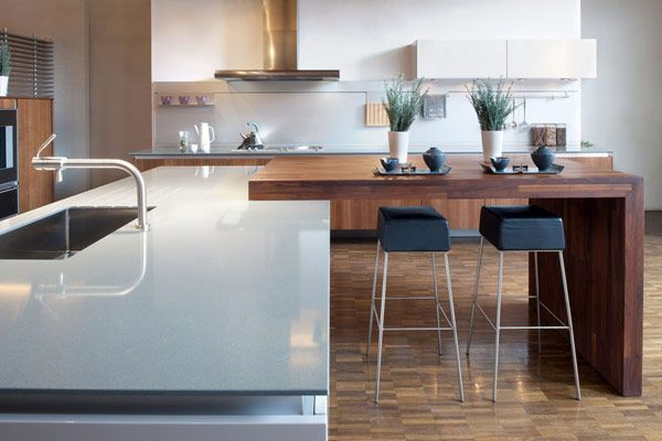 I like the concept of the kitchen peninsula - I am not repinning for the counters or anything else