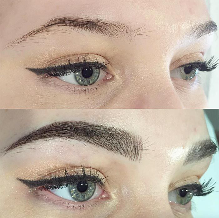 Microblading/ 3D Eyebrow Embroidery Before and After