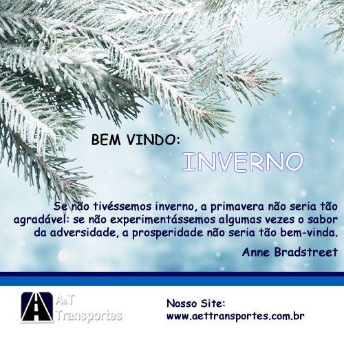 Início do inverno ⛄ ❄ Chegou a estação dos narizes gelados e dos abraços demorados!  http://aettransportes.com.br/ #Logisticapromocional #TransportedeCarga #TransportadoradeCarga #TransporteAéreo