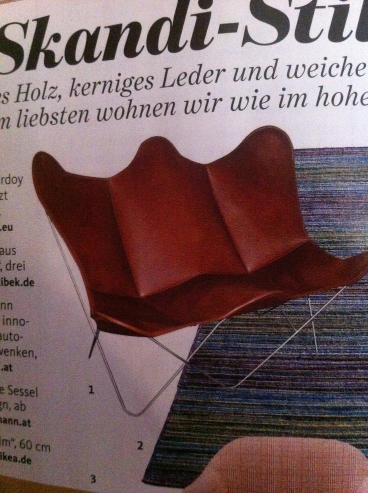 Der Perfekte Stuhl Für Unsere Bibliothek   Hardoy Butterfly Chair Bei  Www.weinbaums.com