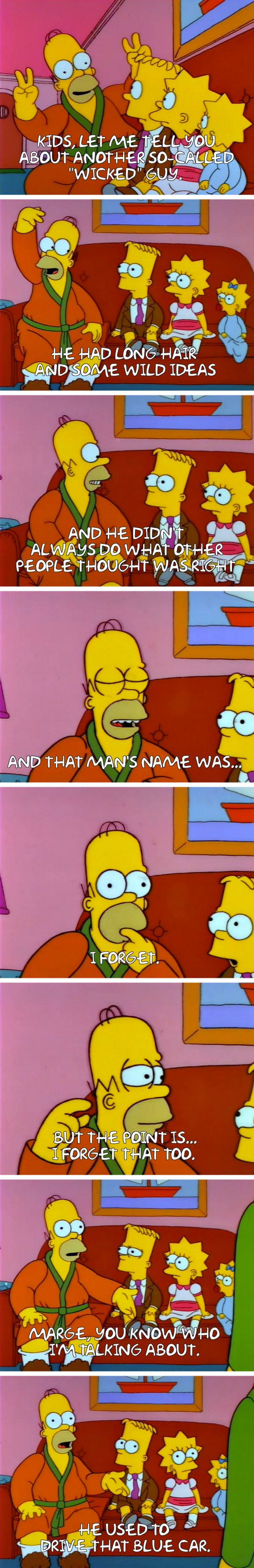 """From """"Homer the Heretic"""": 