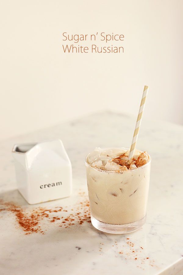 Sugar n' Spice White Russian {favorite holiday drink is a White Russian - need to try this!}