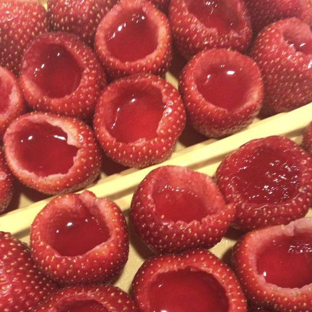 Homemade strawberry margarita shots. Worth it.