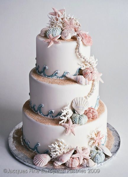 Seashore Cake - Gorgeous ... Withs little less 'details'... A little more simple